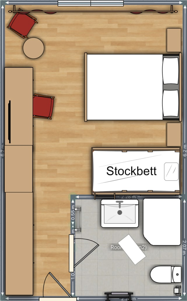 Zimmer Hohenwart Grundriss