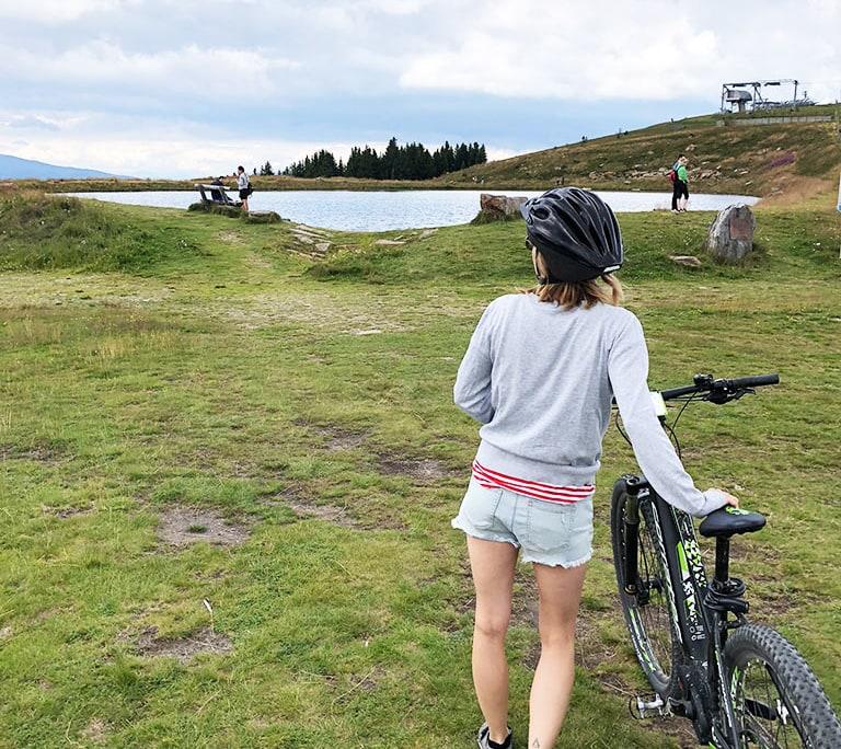 E-Bike Ausflug Klippitztörl am Berg-See