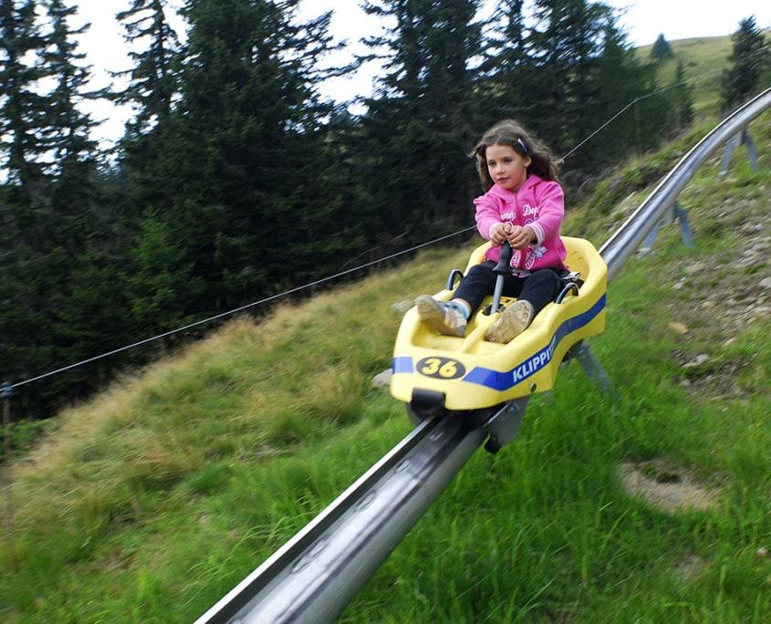 Pista per i slittini estiva Klippitztörl vacanze per la famiglia