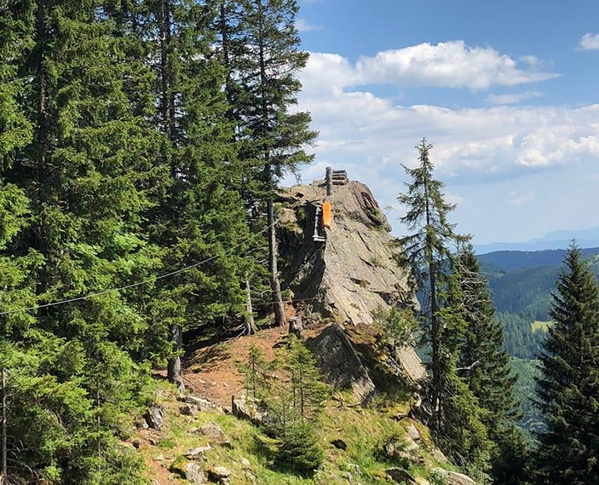 Klettern Klettersteig Flying Fox Familienprogramm Klippitztörl Kärnten