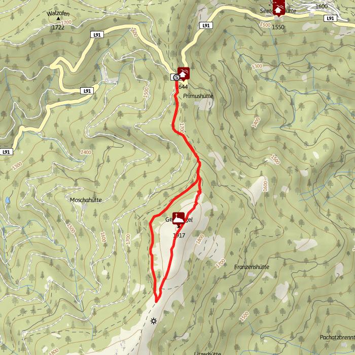 Wanderwege Klippitztörl Geierkogeltour