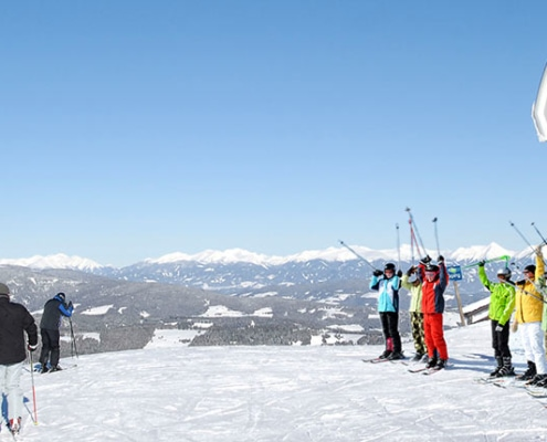 Winter Skifahren Sessellift Klippitztörl
