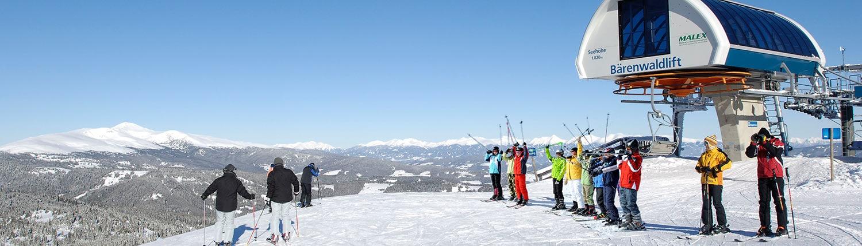 Winter Skifahren Sessellift Klippitztörl