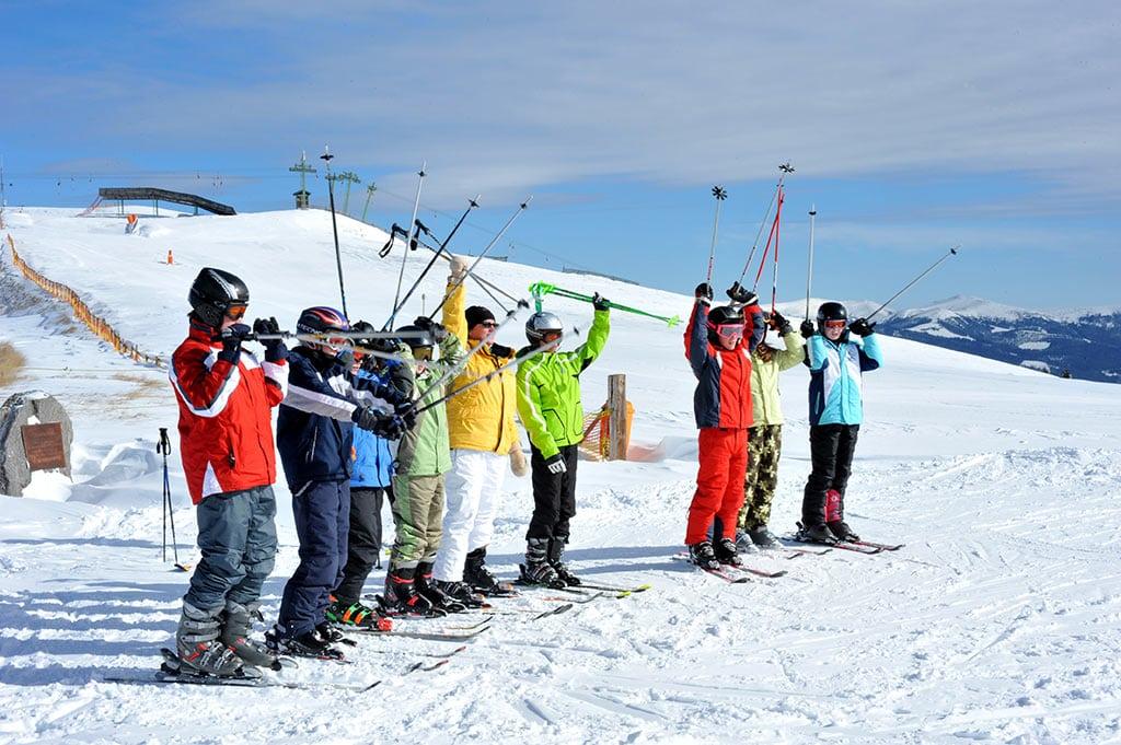 Winter am Klippitztörl Skifahren Kärnten aufwärmen