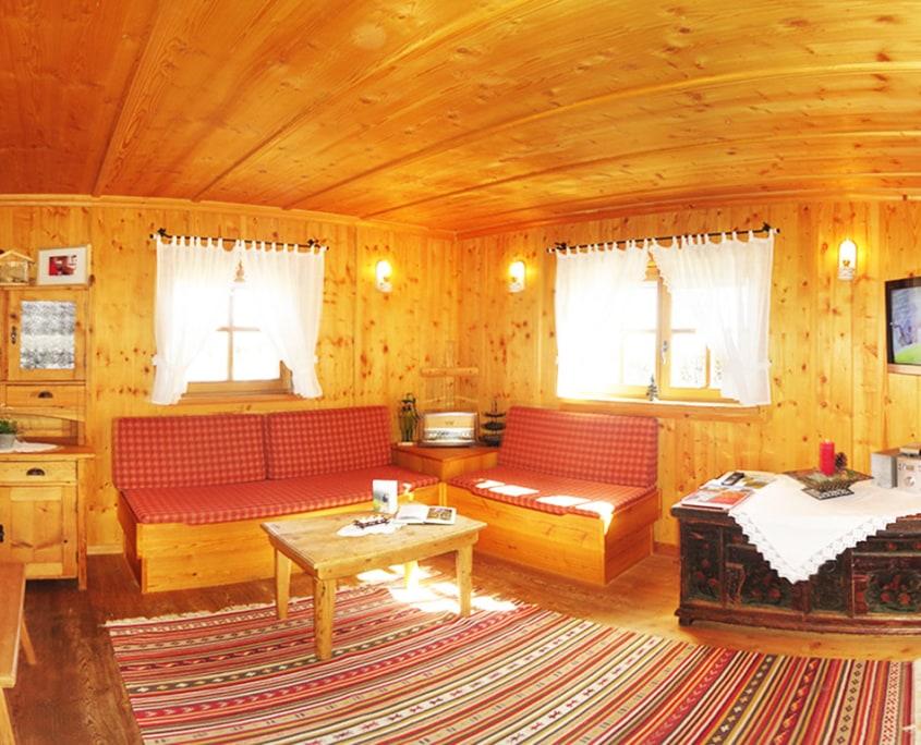 Wohnzimmer Almhütte Klippitzhütte Chalet Kärnten